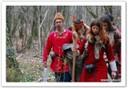 Einarr le bani et sa fille adoptive naskapi