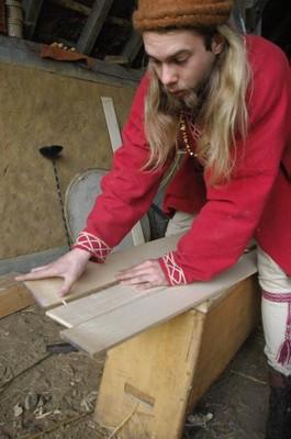 Construction d'un bouclier normand