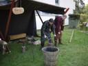 L'atelier forge : Grimr et Sæbjórn au travail