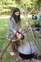 Préparation d'un bain de teinture au chêne