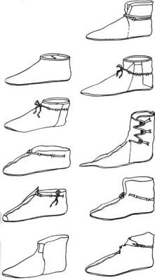 Chaussures en cuir retrouvées à Haitabu