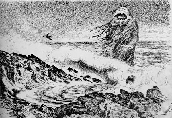 """Kittelsen - """"Sjøtrollet"""" (1887)"""