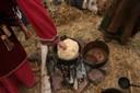 Teinture au sureau d'une laine mordancée à l'alun